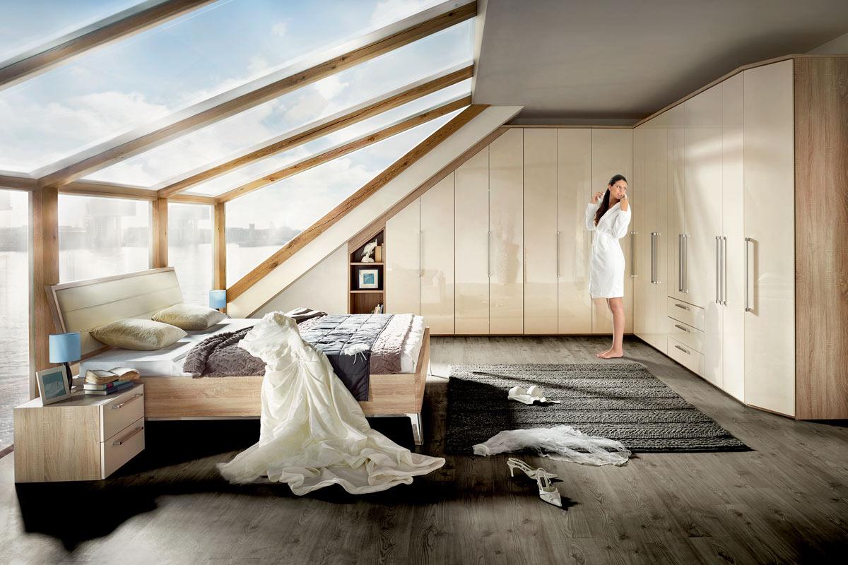 grosszuegiges schlafzimmer schlafzimmer mit eckschrank - Schlafzimmer Mit Eckschrank