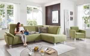 sofa mit kopfstuetzverstellung